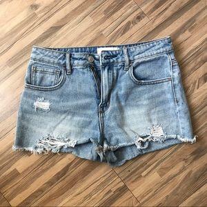 PACSUN High Rise Denim Shorts